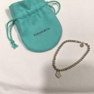 Tiffany & Co Mini Heart Sterling Silver Bracelet